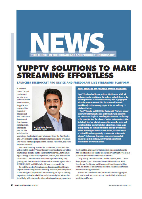 Uday Reddy | Udaynandan Reddy | YuppTV CEO